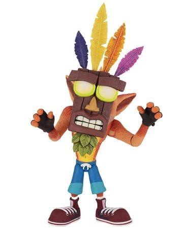 Фигурка Crash Bandicoot – Crash with Aku Aku Mask (14 см) Neca