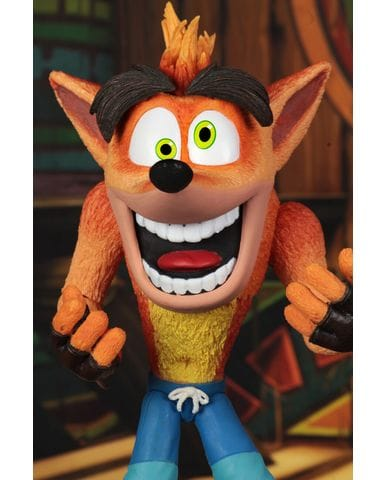 Фигурка Crash Bandicoot - Crash with Aku Aku Mask (14 см) Neca