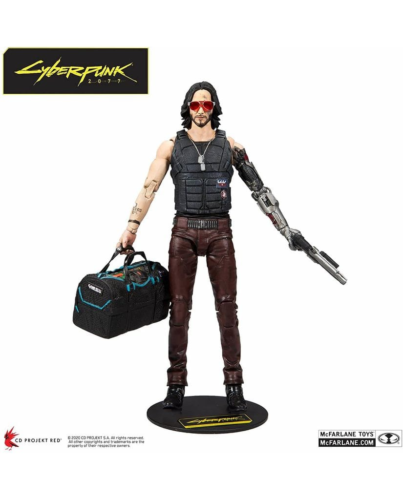 Фигурка Cyberpunk 2077 - Johnny Silverhand with Duffle Bag (18 см) McFarlane Toys