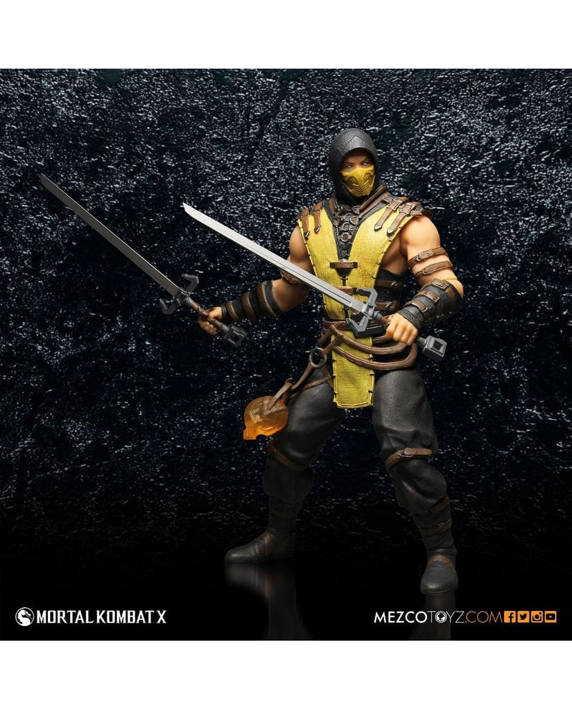 Фигурка Mortal Kombat X - Scorpion (30 см) Mezco Toyz
