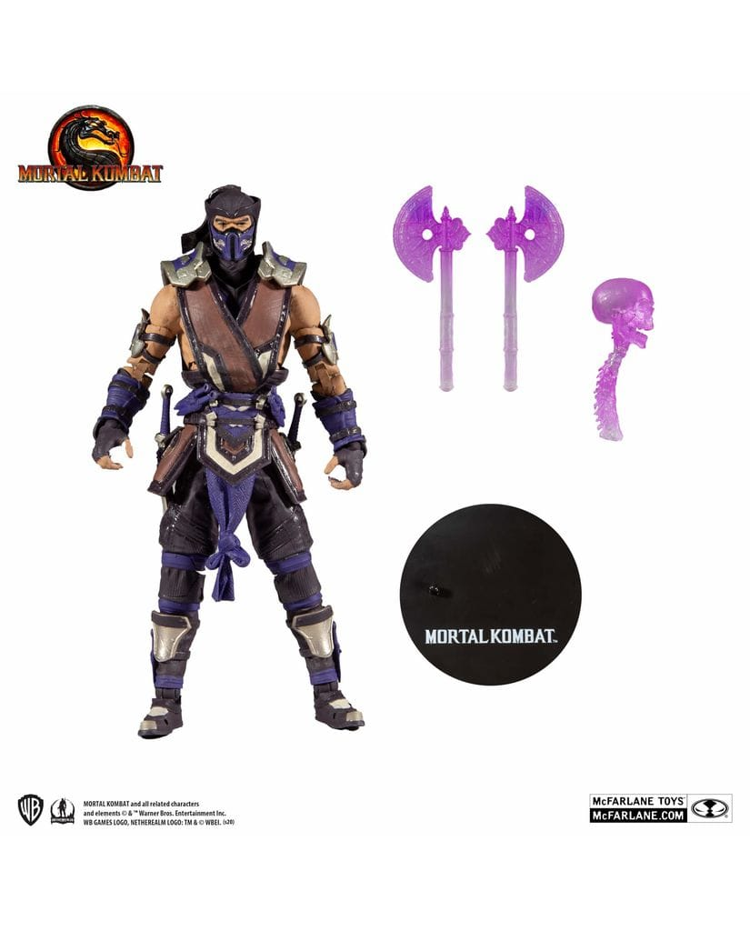 Фигурка Mortal Kombat – Sub-Zero Winter Purple Skin (18 см) McFarlane Toys