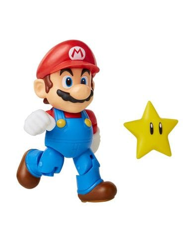 Фигурка Super Mario - Mario with Super Star (10 см) Jakks Pacific