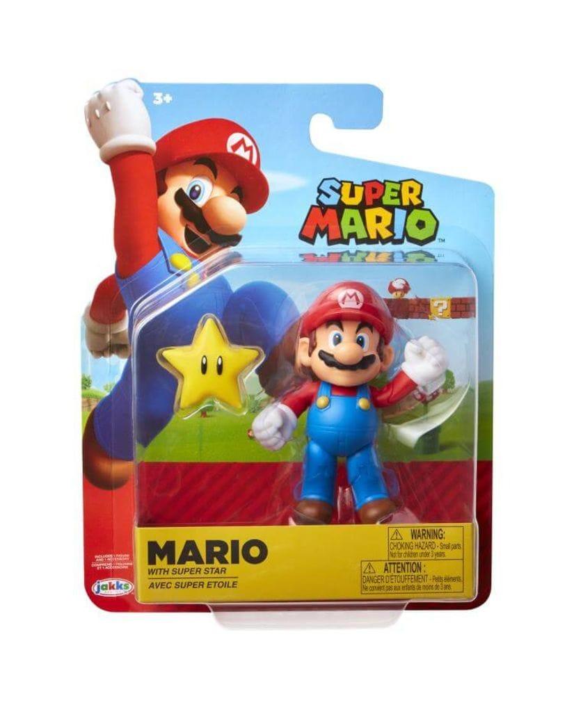 Фигурка Super Mario - Mario with Super Star (10 см) Jakks Pacific