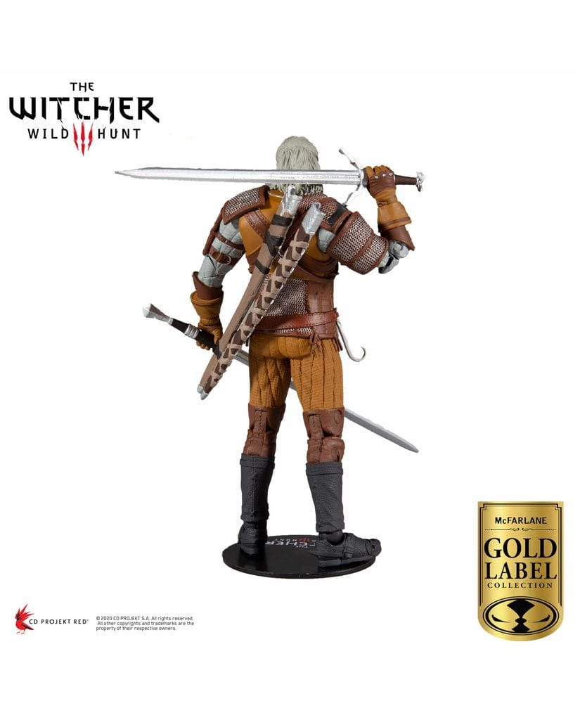 Фигурка The Witcher 3: Wild Hunt – Geralt of Rivia Gold Label (18 см) McFarlane Toys [Exclusive]