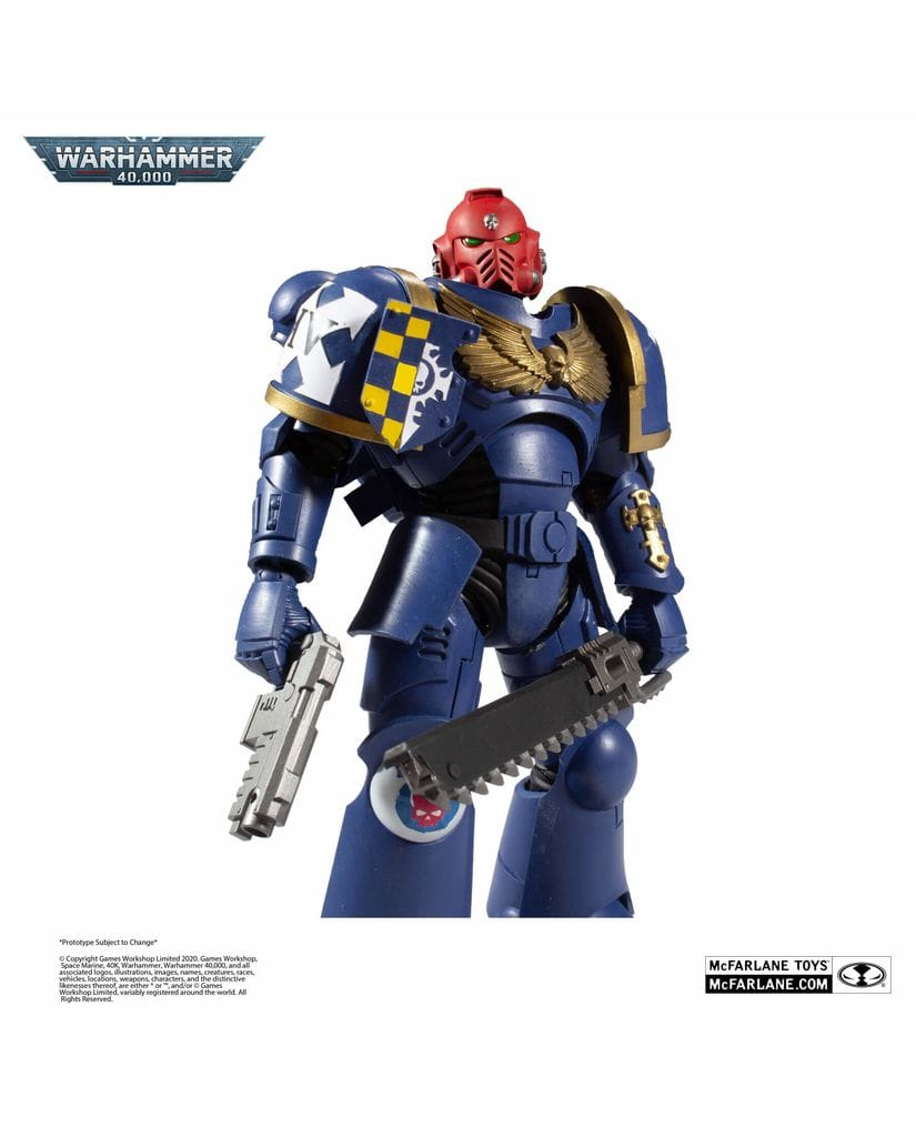 Фигурка Warhammer 40,000 - Ultramarines Primaris Assault Intercessor (18 см) McFarlane Toys