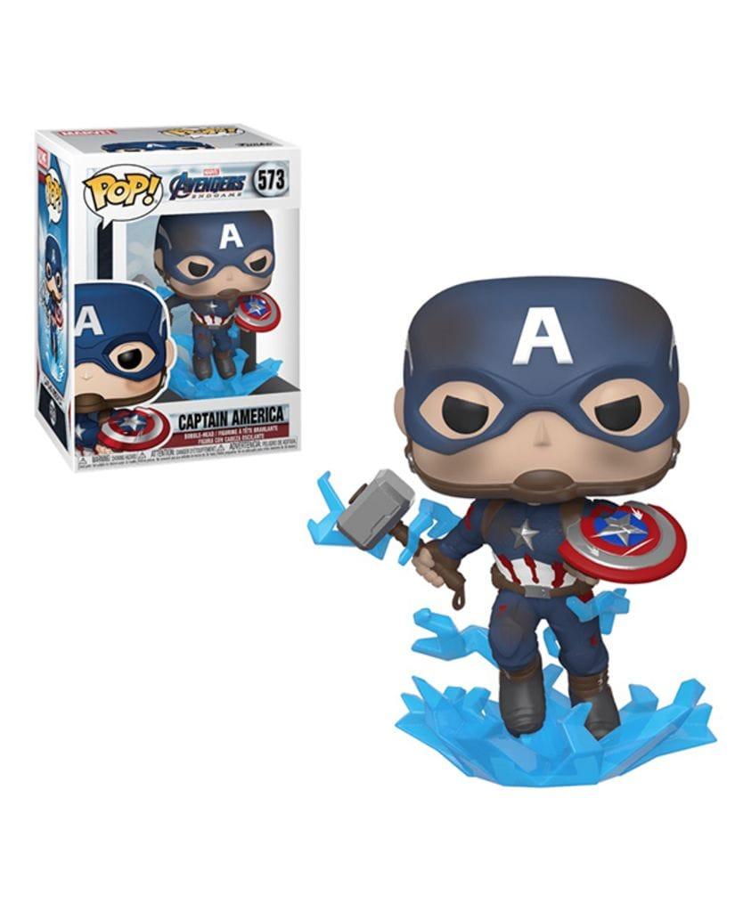Фигурка Avengers Endgame - Captain America with Broken Shield and Mjoinir (Funko POP!)