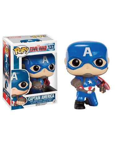 Фигурка Civil War – Captain America Action Pose (Funko POP!) [Exclusive]
