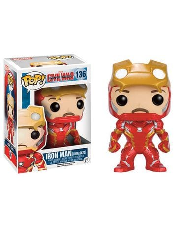 Фигурка Civil War – Iron Man Unmasked (Funko POP!) [Exclusive]
