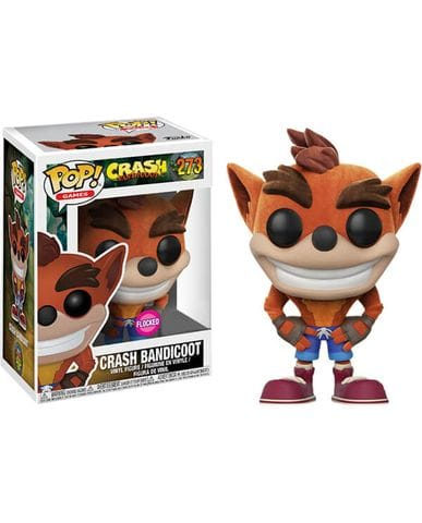 Фигурка Crash Bandicoot - Crash Bandicoot Flocked (Funko POP!) [Exclusive]