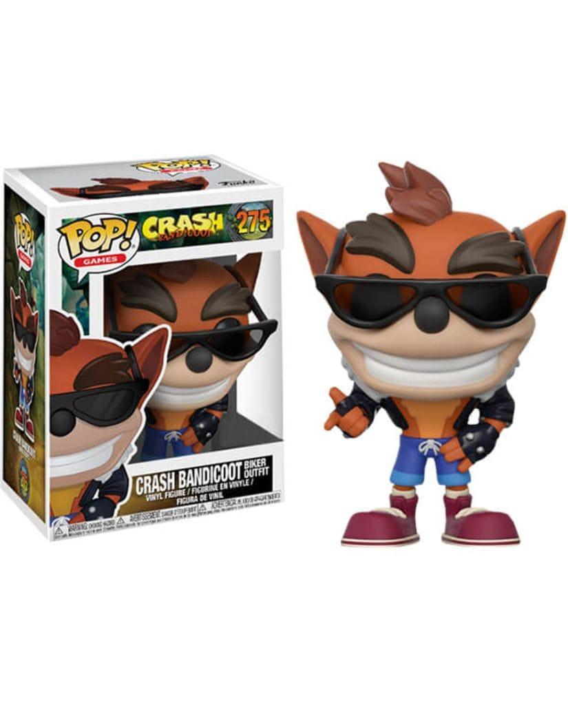 Фигурка Crash Bandicoot - Crash Bandicoot in Biker Outfit (Funko POP!) [Exclusive]