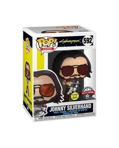 Фигурка Cyberpunk 2077 – Johnny Silverhand with Guns Glow (Funko POP!) [Exclusive]