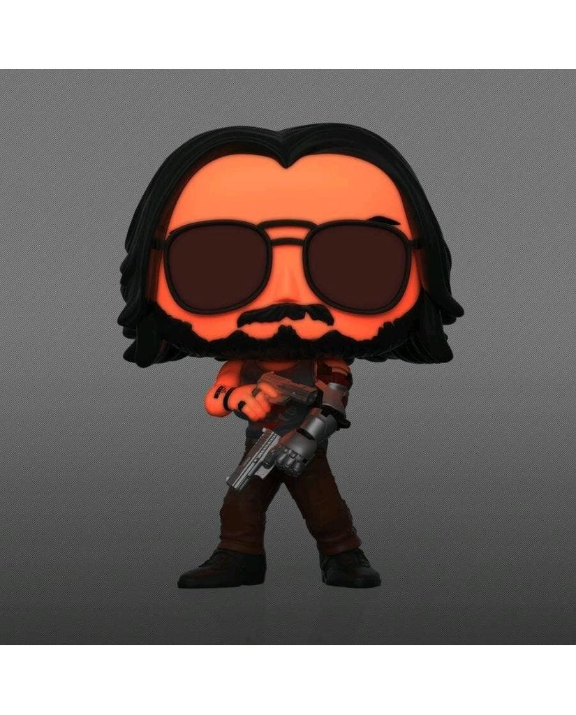 Фигурка Cyberpunk 2077 - Johnny Silverhand with Guns Glow (Funko POP!) [Exclusive]