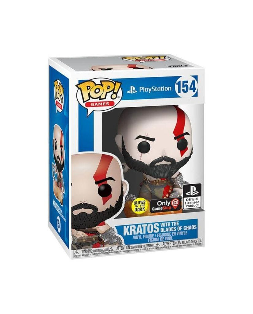 Фигурка God of War – Kratos with The Blades of Chaos Glow (Funko POP!) [Exclusive]