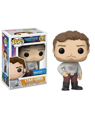 Фигурка Guardians of the Galaxy Vol. 2 - Star-Lord with Gear Shift Shirt (Funko POP!) [Exclusive]