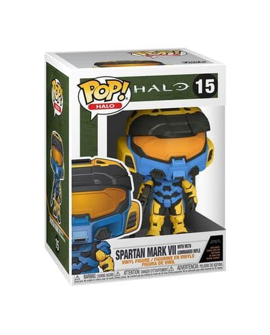 Фигурка Halo Infinite - Spartan Mark VII with VK78 Blue & Yellow (Funko POP!)