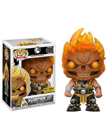 Фигурка Mortal Kombat X – Scorpion Flaming Skull (Funko POP!) [Exclusive]