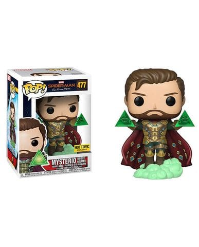 Фигурка Spider-Man: Far from Home - Mysterio without Helmet (Funko POP!) [Exclusive]